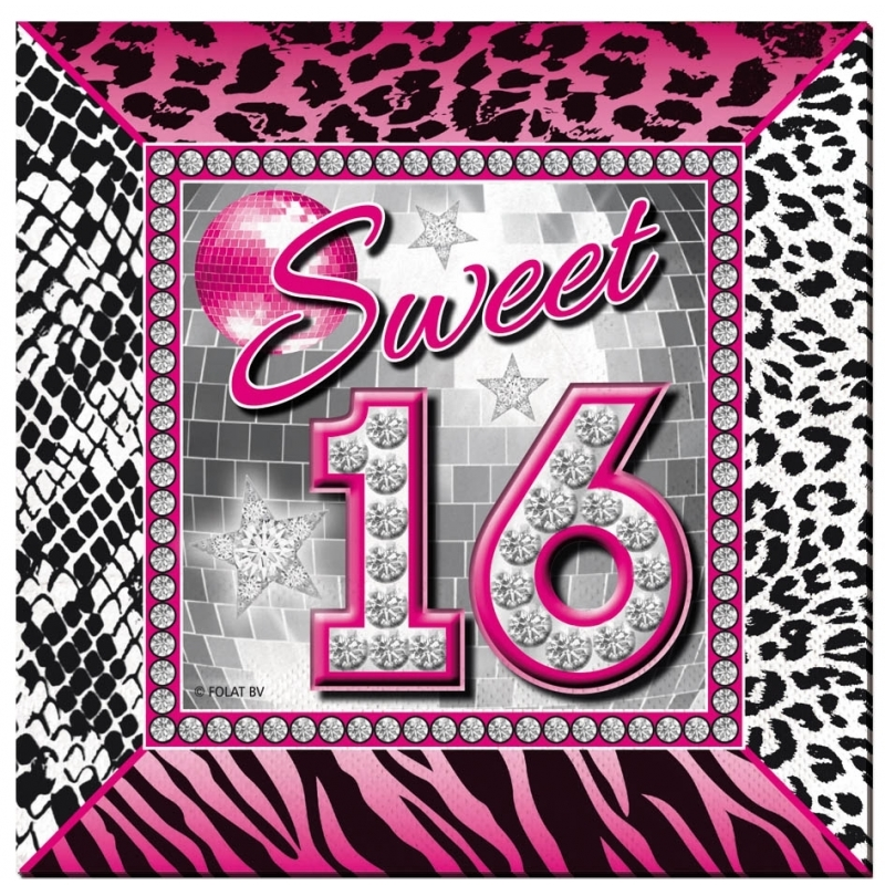 Hawaii Feest Servetten Sweet 16 Verjaardag